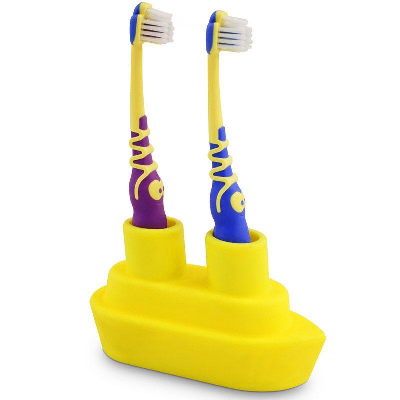 Держатель для зубной щетки Boat желтыйМыло и аксессуары для ванной<br>Держатель для зубной щетки Boat желтый<br>Размер: None; Объем: None; Материал: Силикон; Цвет: Желтый;