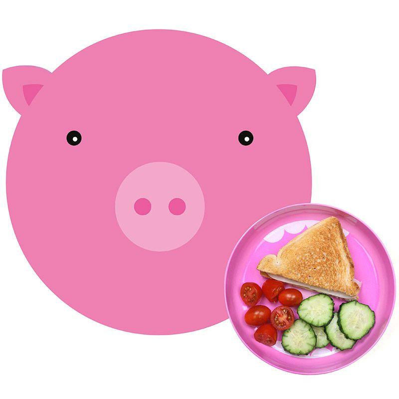 Коврик+миска Hungry pigНоворожденным<br>Коврик+миска Hungry pig<br>Размер: None; Объем: None; Материал: Полипропилен, меламин; Цвет: Розовый;