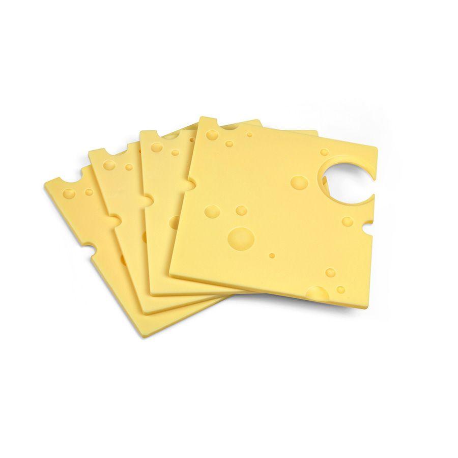 Мини поднос Swiss Dish (набор 4 шт.)Подарки<br>Подносы для вечеринки Сыр (Swiss Dish)<br>Размер: 2.3 x 14 x 20.5 см.; Объем: None; Материал: Пластик; Цвет: Желтый;