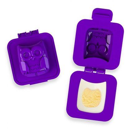 Пресс - форма для яйца OwlПодарки<br>Пресс - форма для яйца Owl<br> <br>Вкусный  и яркий завтрак вам обеспечен!<br>Размер: 14,6 х 21 х 4,2; Объем: None; Материал: Пищевой пластик, меламин; Цвет: Фиолетовый;