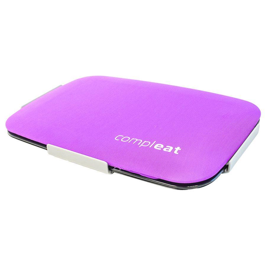 Ланч-Бокс Foodskin ComplEAT (Фиолетовый)Органайзер для кухни<br>Ланч-Бокс Foodskin ComplEAT (Фиолетовый)<br>Размер: 16 x 24 x 1.5 см.; Объем: None; Материал: Силикон, пластик; Цвет: Фиолетовый;