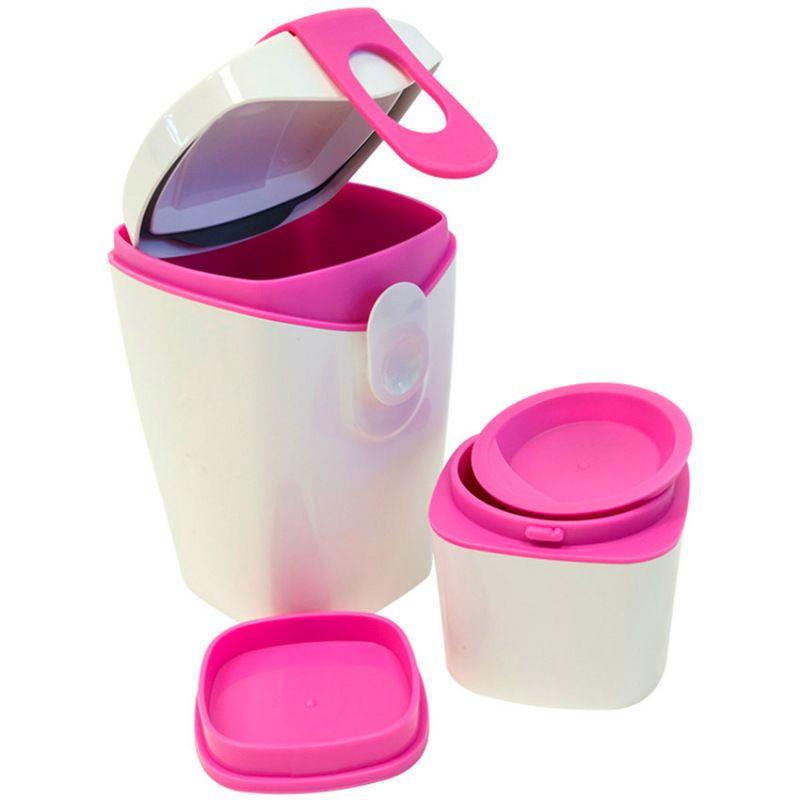 Ланч-бокс Energy Booster БелыйОбед с собой<br>Ланч-бокс Energy Booster Белый<br>Размер: 19 х 9.5 х 8.5 см.; Объем: None; Материал: Пластик; Цвет: Белый / Розовый;