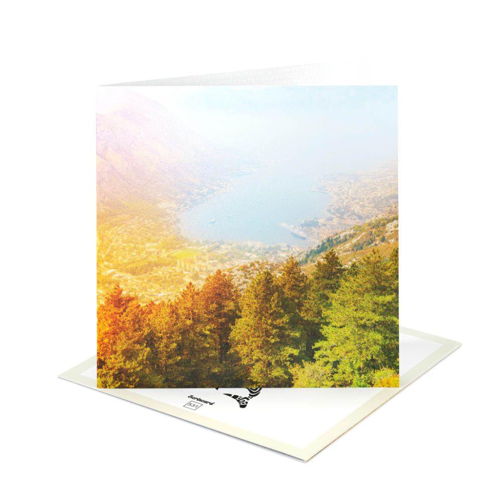 Открытка Scrincard Лес у водыПодарки<br>В летнее время - летние подарки, с дополнением яркой открытки.<br>Размер: 20 х 20 см; Объем: None; Материал: Картон; Цвет: None;