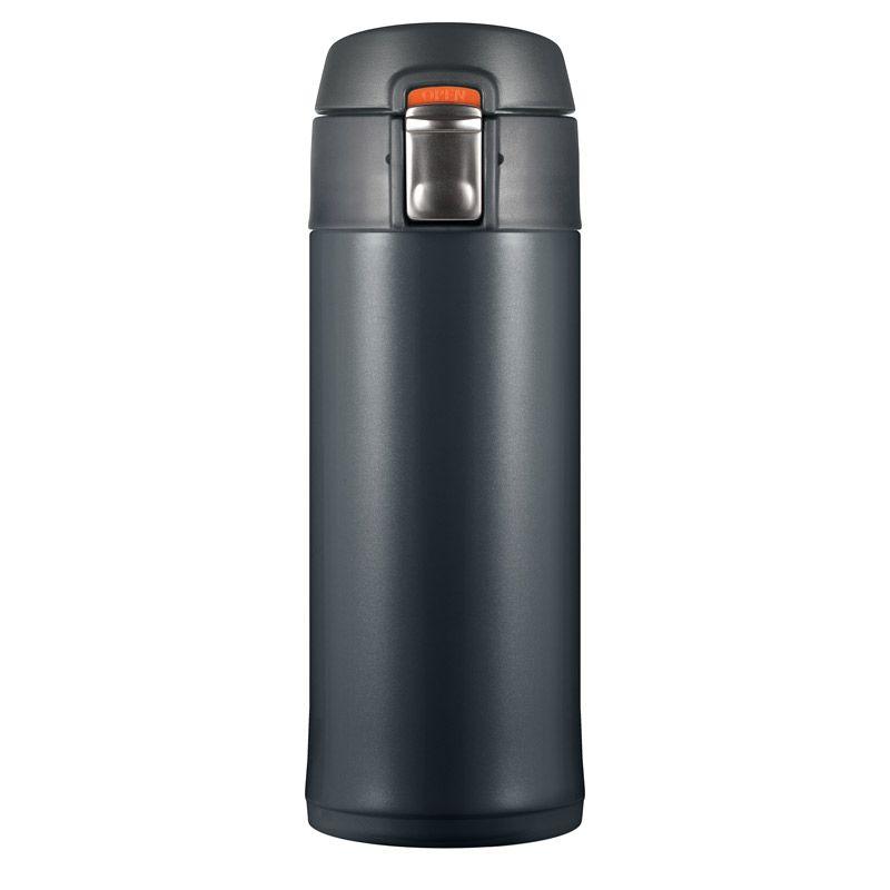 Термостакан Quick Open 2.0, мокрый асфальт, 350 млПодарки<br>Для автомобилистов и детишек такой подарок незаменим, не пролить напиток и поставить в любой держатель - просто. А самое приятное, что любой...<br>Размер: None; Объем: 350 мл; Материал: Нержавеющая сталь, пластик; Цвет: Серый;