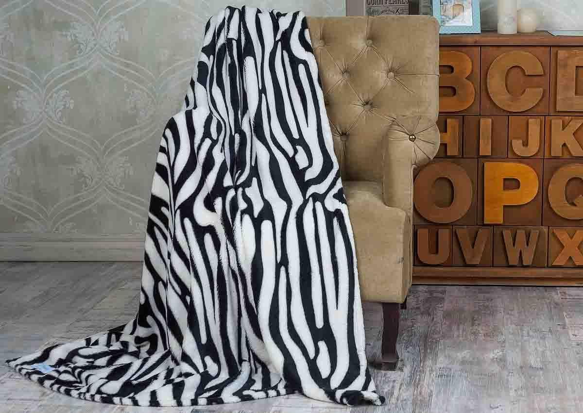 Плед Sleepy Classic ZebraИнтерьер<br>Мягкий и теплый подарок каждому.<br>Размер: 200 х 220 см; Объем: None; Материал: Микрофибра; Цвет: Белый / Черный;