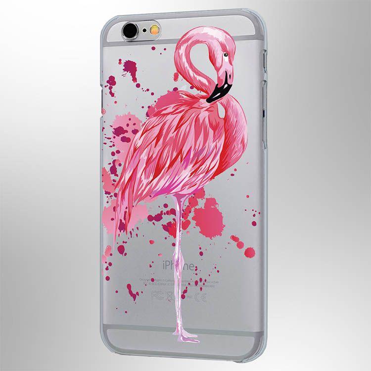Чехол Фламинго iPhone 6/6SЧехлы для телефона<br>Удивительный Фламинго на вашем телефоне.<br>Размер: None; Объем: None; Материал: Пластик; Цвет: Прозрачный;