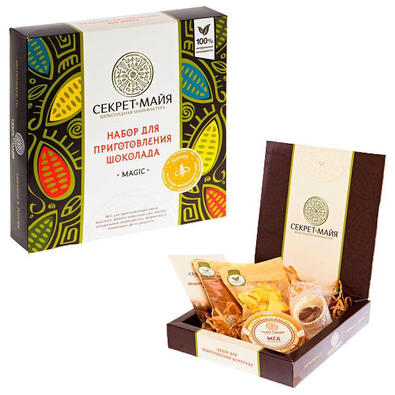Набор для приготовления шоколада Секрет Майя Magic HoneyПодарки<br>Магический мед в любимом шоколаде.<br>Размер: None; Объем: None; Материал: None; Цвет: None;