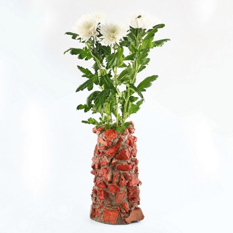 "Авторская ваза ""Atli"" из битого кирпича от 9 800 руб"