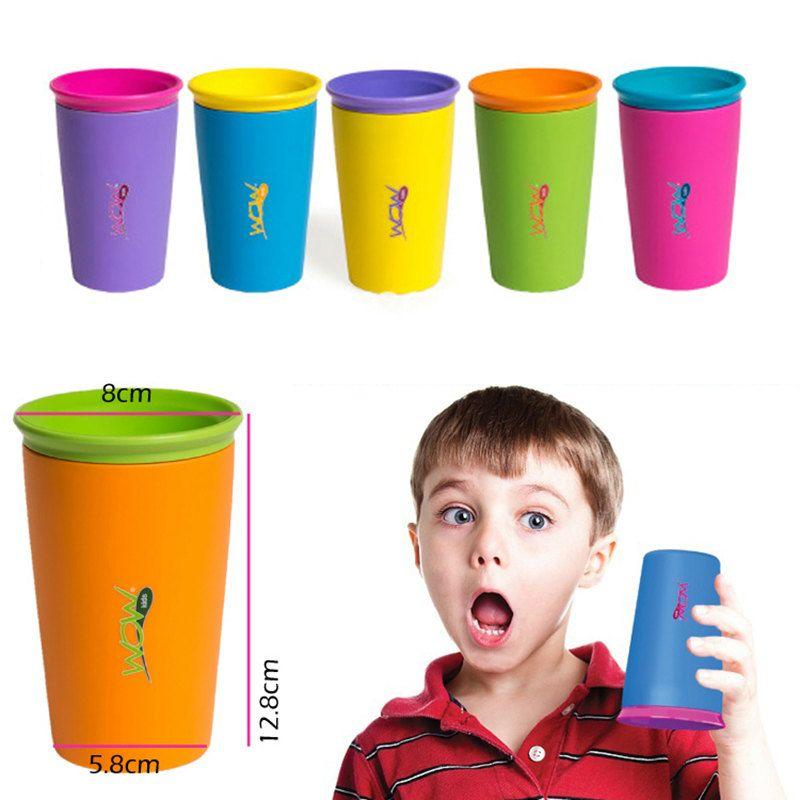 Стакан непроливайка  WOW CupПодарки<br>Хороший подарок для молодых родителей и непоседливых детишек, которые будут приятно удивлены сухому полу и одежде. Прекрасное сочетание яркого дизайна и практичности.<br>Размер: 200 мл; Объем: None; Материал: Пищевой пластик; Цвет: Синий;