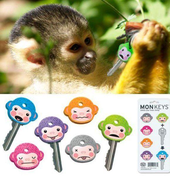 Насадки для ключей MonKeysДержатели для ключей<br>Насадки для ключей MonKeys<br>Размер: None; Объем: None; Материал: Силикон; Цвет: None;