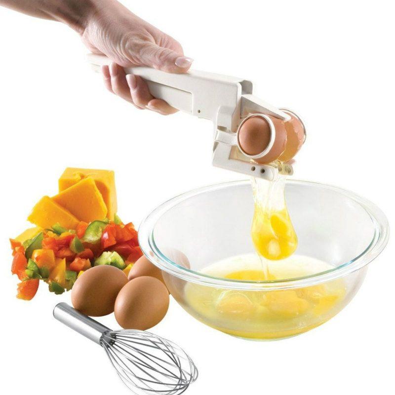 Разбиватель яиц EzcrackerПодарки<br>Устройство для разбивания яиц<br>Размер: None; Объем: None; Материал: АБС-пластик, цинк, сталь; Цвет: Белый;