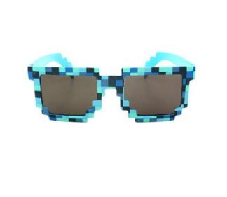 Очки пиксельные синие