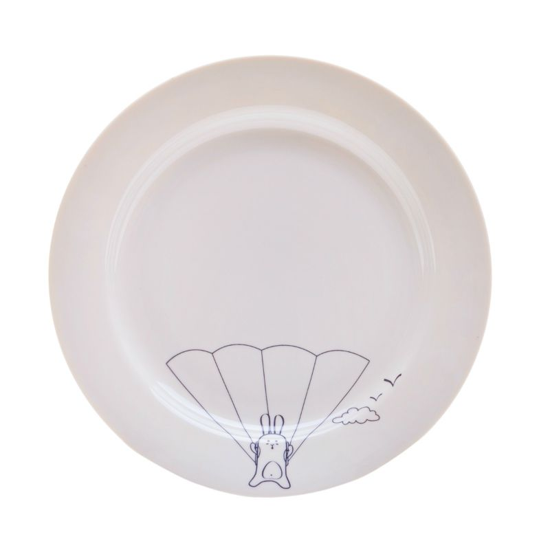 Сюжетная тарелка Кроль парашютистКухня<br>Сюжетная тарелка Кроль парашютист<br>Размер: None; Объем: None; Материал: Фарфор; Цвет: Белый;
