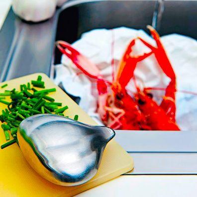 Металлическое мыло Savon du Chef (Alessi)Новый год<br>Металлическое мыло спасет от любого запаха.<br>Размер: 3 х 7 х 6.5 см; Объем: None; Материал: Сталь; Цвет: Серебристый;