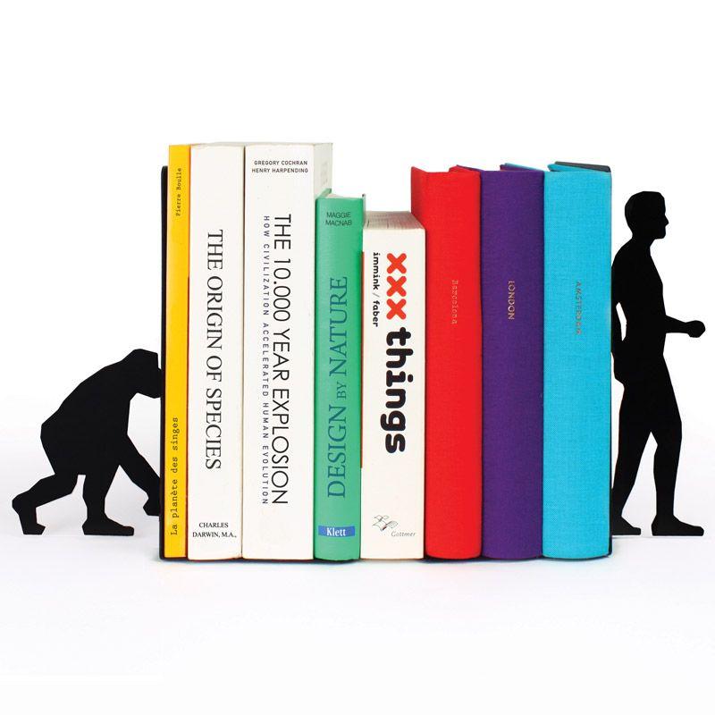 Ограничитель для книг Evolution черныйМужчине<br>Ограничитель для книг Эволюция (Evolution)<br>Размер: 17.6 х 11 х 0.3 см.; Объем: None; Материал: Металл; Цвет: Черный;