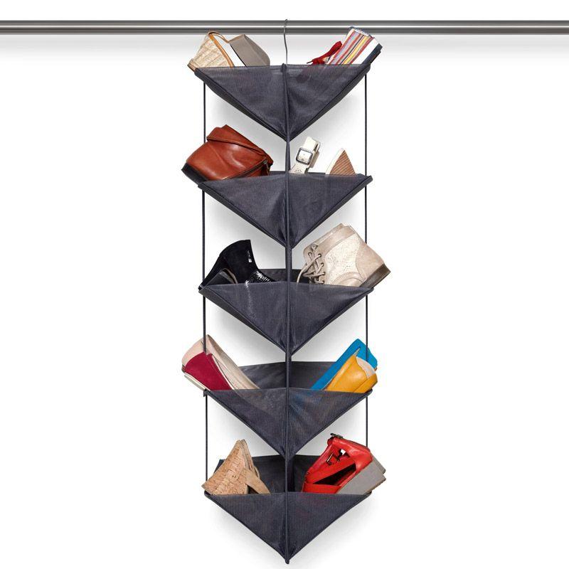Органайзер для обуви Enfold темно-серыйИнтерьер<br>Органайзер для обуви Enfold тёмно-серый<br>Размер: 38 х 113 х 30 см.; Объем: None; Материал: Полиэстер; Цвет: Черный;