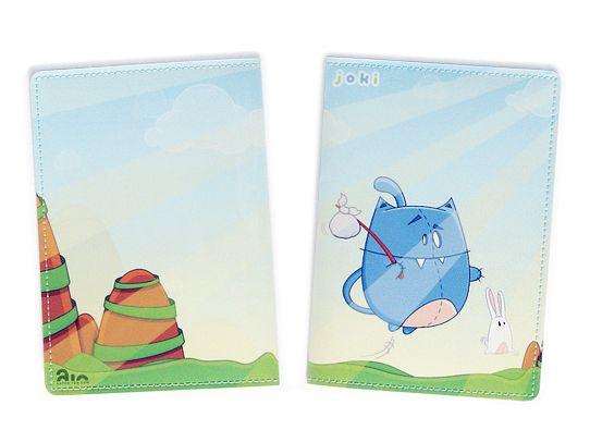 Обложка для паспорта Кот с зайцемОбложки для документов<br>Обложка для паспорта Кот с зайцем<br>Размер: None; Объем: None; Материал: ПВХ; Цвет: Комбинированный;