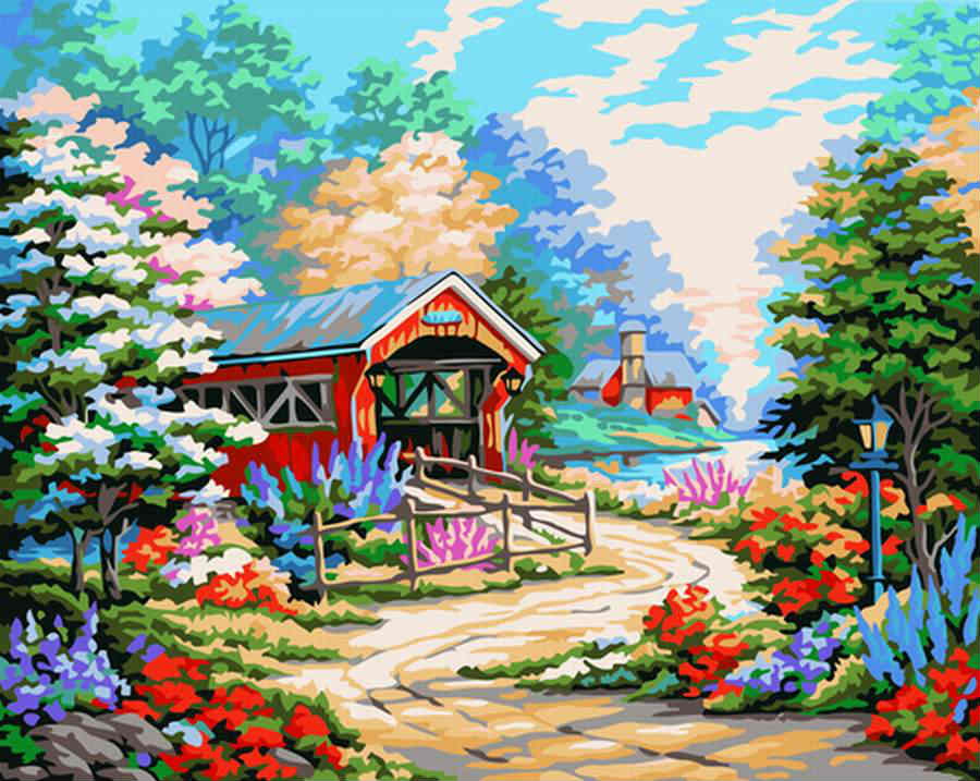 Картина по номерам Провинциальный пейзажПодарки<br>Картина по номерам Провинциальный пейзаж<br>Размер: None; Объем: None; Материал: Холст (хлопок), дерево, краска; Цвет: None;