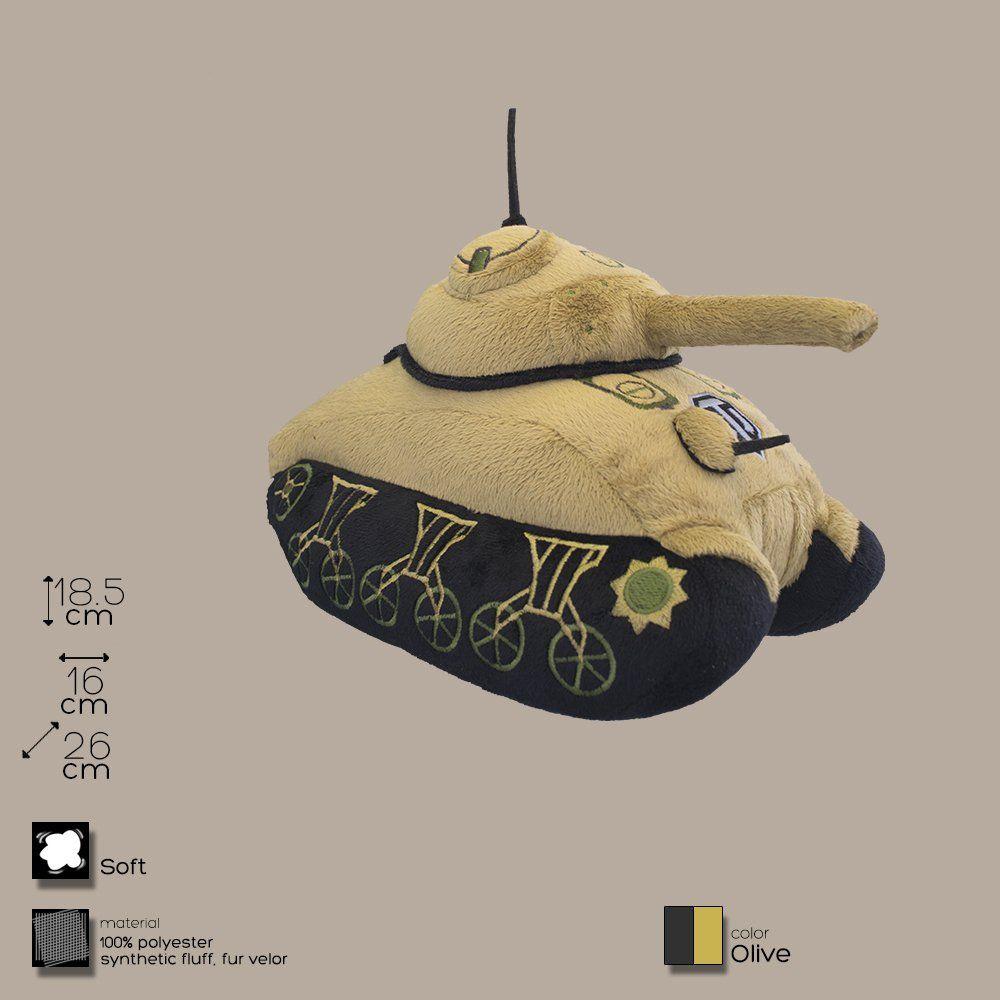 Плюшевая игрушка танк М - 4 (оливковый)Мягкие игрушки<br>Плюшевая игрушка танк М - 4 (оливковый)<br>Размер: 25 х 18 х 17 см.; Объем: None; Материал: Полиэстер; Цвет: Зеленый;