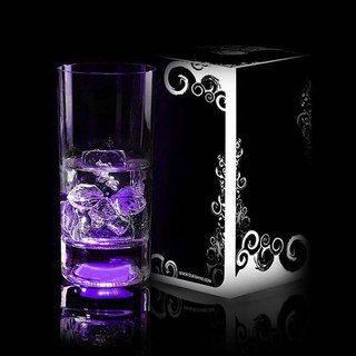 Светящийся бокал Longdrink (GlasShine) (Фиолетовый)Подарки<br>Любое мероприятие станет ярче.<br>Размер: 250 мл; Объем: None; Материал: Стекло; Цвет: Фиолетовый;
