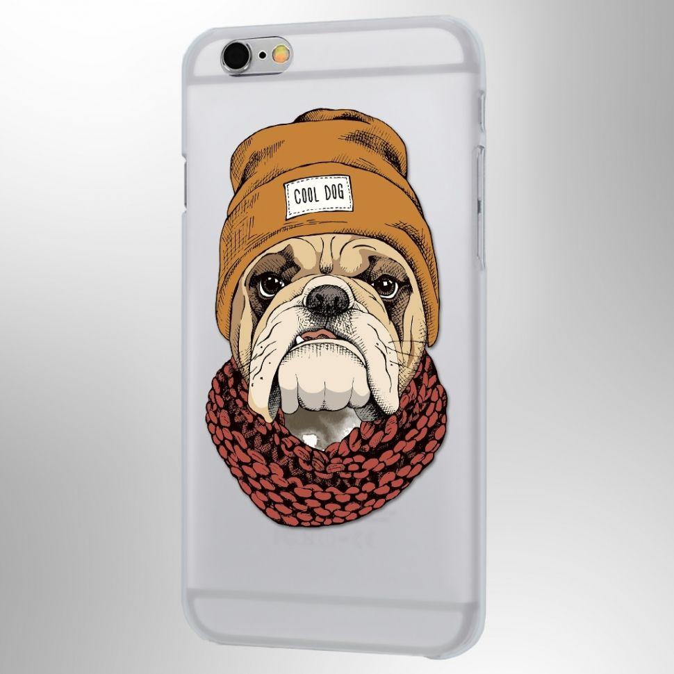 Чехол Питомцы (Cool Dog) iPhone 6/6SЧехлы для телефона<br>Крутой Бульдог на вашем смартфоне.<br>Размер: None; Объем: None; Материал: Пластик; Цвет: Прозрачный;