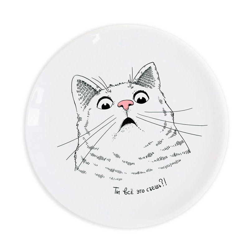 """Тарелка """"Котик говорит: Ты всё это съешь?"""" от 1 000 руб"""