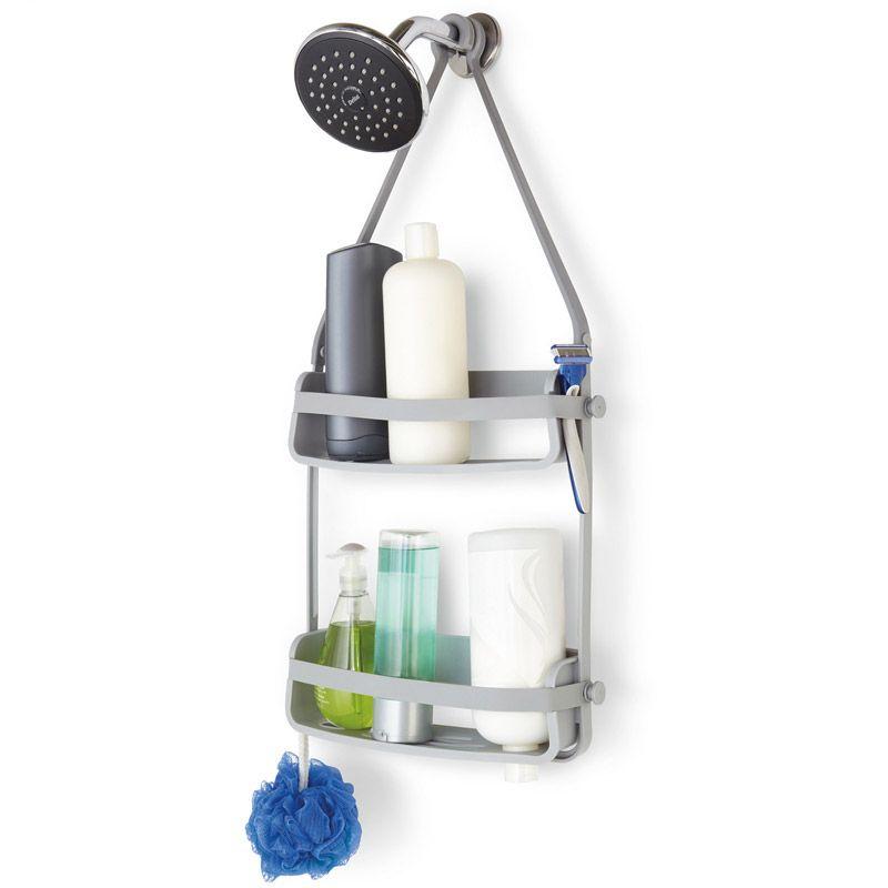 Органайзер для душа Flex серыйАксессуары для туалета<br>Органайзер для душа Flex серый<br>Размер: 65 x 33 x 10 см.; Объем: None; Материал: Полипропилен; Цвет: Серый;