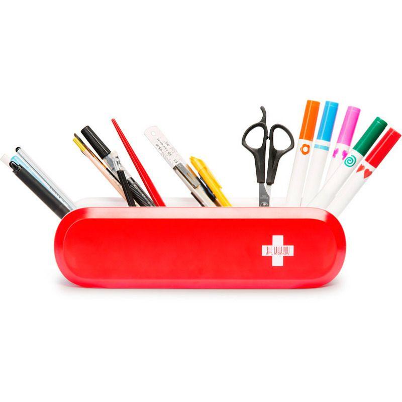 Подставка для приборов ШвейцармиусКухонные принадлежности<br>Подставка для приборов под шведский нож.<br>Размер: None; Объем: None; Материал: Пластик, картон; Цвет: Красный;