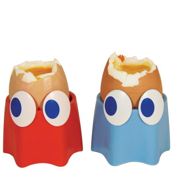 Набор чашек для яиц  - Pac Man и ПриведениеКухонные принадлежности<br>Набор чашек для яиц  - Pac Man и Приведение<br>Размер: 5 х 7 см; Объем: None; Материал: Пищевой пластик; Цвет: None;