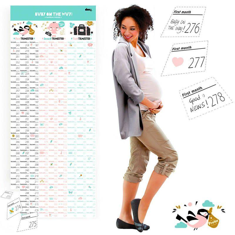 Купить со скидкой Календарь для беременных Baby on the way