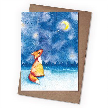 Поздравительная открытка Мечты о звездах