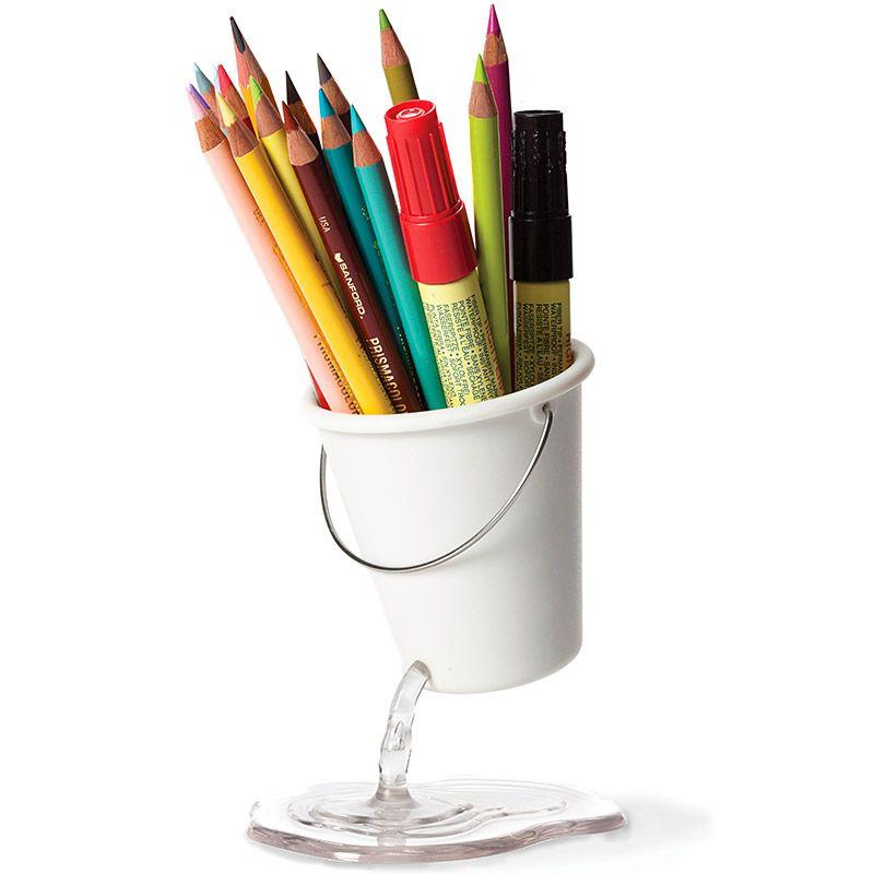 Органайзер для рабочего стола Desk Bucket белыйПодарки<br>Органайзер для рабочего стола Desk Bucket белый<br>Размер: None; Объем: None; Материал: Пластик ABS; Цвет: Белый;