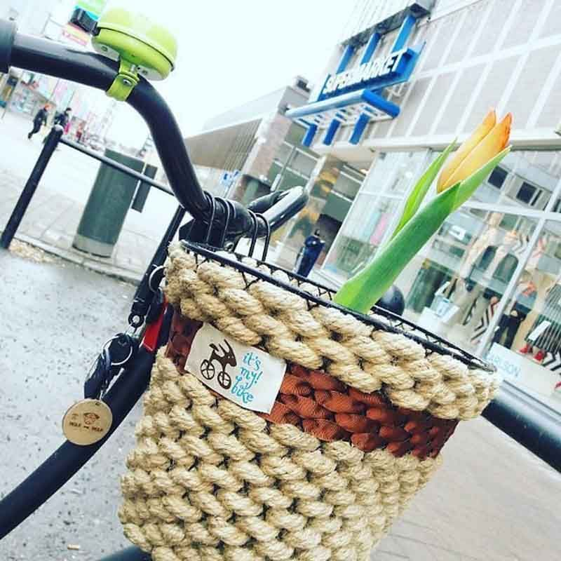Корзина хорошая канатно - коричневаяДля велосипеда<br>Корзина хорошая для хороших людей.<br>Размер: None; Объем: None; Материал: None; Цвет: Коричневый;