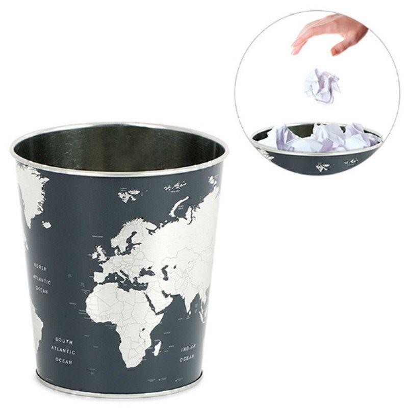 Корзина для бумаг GlobeПодарки<br>Корзина для бумаг Globe<br>Размер: 17.7 x 22 x 26 см; Объем: None; Материал: Металл; Цвет: None;