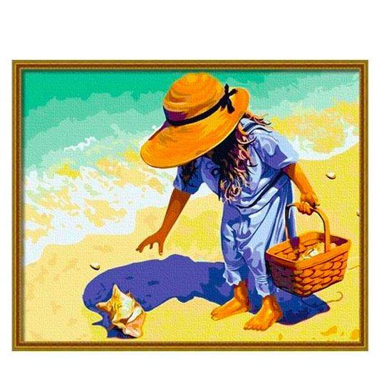 "Картина по номерам ""Девочка у моря"""