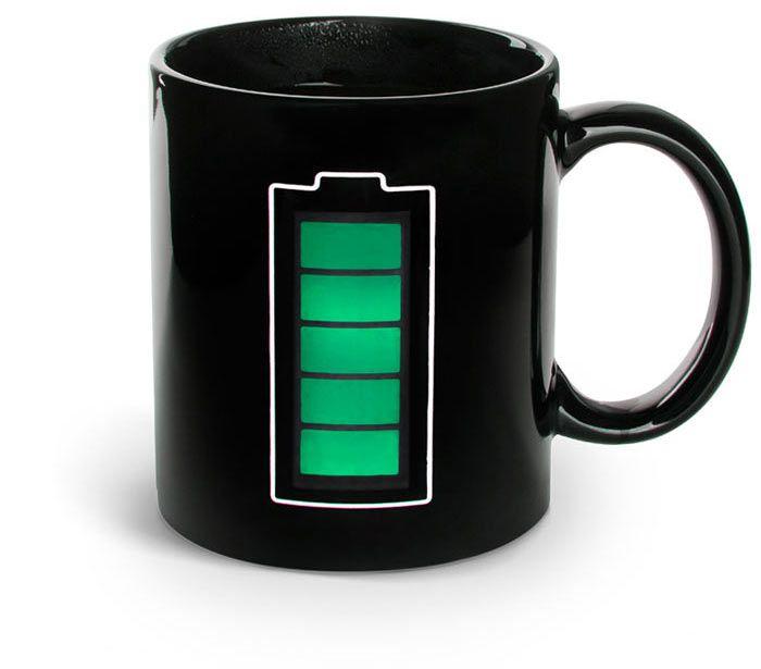 Кружка Термокружкус, батарейкаПорядок и хранение<br>Термокружка с индикатором заряда батареи.<br>Размер: 300 мл; Объем: None; Материал: Керамика; Цвет: Черный;