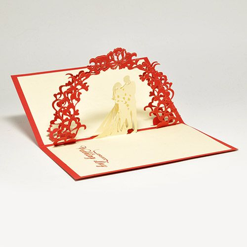 Объемная открытка 3D С Днем Свадьбы (Сердце)