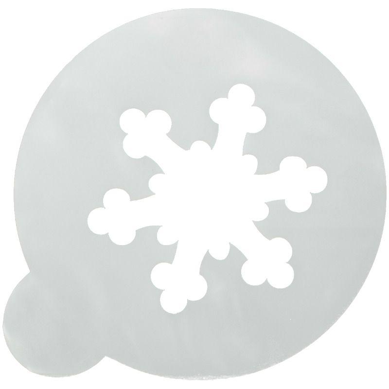 Трафарет на кофе и десерты СнежинкаАксессуары для кофе<br>Трафарет на кофе и десерты - Снежинка<br>Размер: None; Объем: None; Материал: Пластик; Цвет: None;