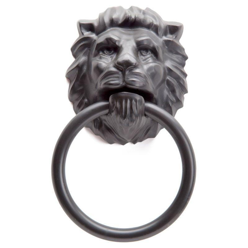Держатель для полотенца Lion head черный