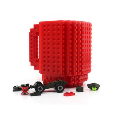 Кружка Build-on Brick красная 350мл
