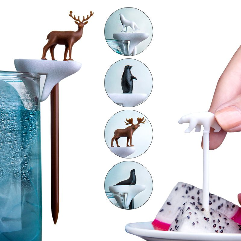 Набор шпажек-маркеров для бокалов Cool animalПодарки для гурманов<br>Набор шпажек-маркеров для бокалов Cool animal<br>Размер: 2 x 70 x 1 см; Объем: None; Материал: Пластик ABS; Цвет: None;