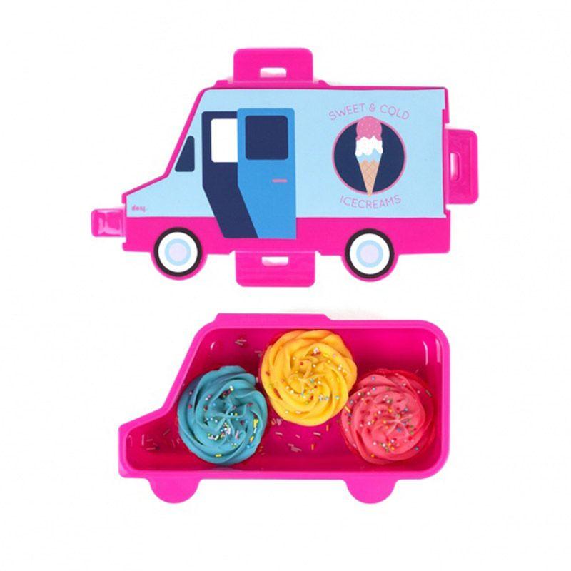 Ланч-бокс Food truck SweetПодарки<br>Ланч-бокс Food truck Sweet<br>Размер: 23 х 13 х 7 см.; Объем: None; Материал: Полипропилен; Цвет: Розовый;