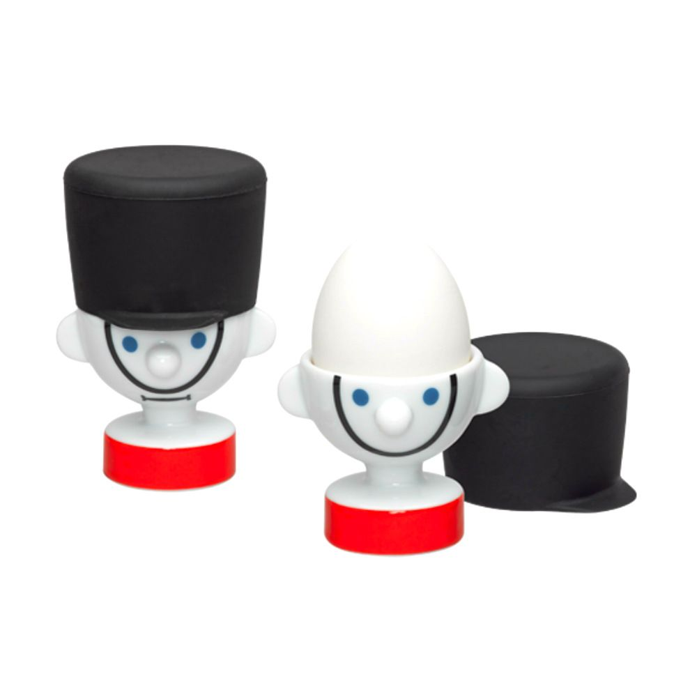 Набор для подачи яиц GarderПодарки<br>Набор для подачи яиц Garder<br>Размер: 9.4 х 7 х 7 см.; Объем: None; Материал: Керамика; Цвет: Белый / Черный;