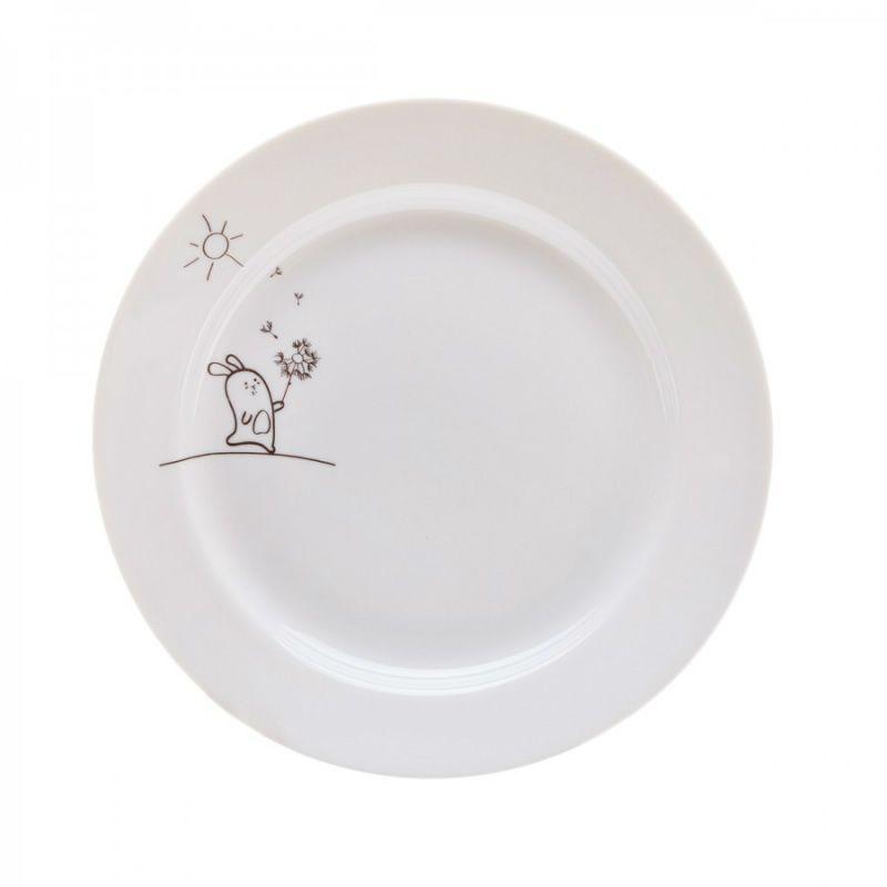 Сюжетная тарелка Кроль с одуванчикомПодарки<br>Кроль с одуваном на тарелке с завтраком.<br>Размер: None; Объем: None; Материал: Фарфор; Цвет: Белый;