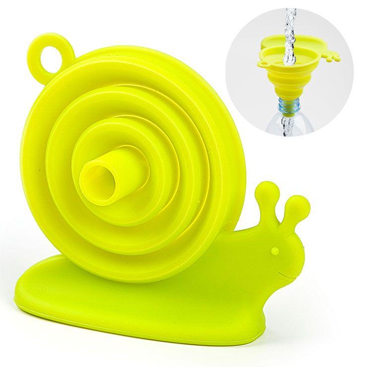 Воронка для бутылки EscargotПодарки<br>Воронка для бутылки Escargot<br>Размер: None; Объем: None; Материал: Силикон; Цвет: Зеленый;
