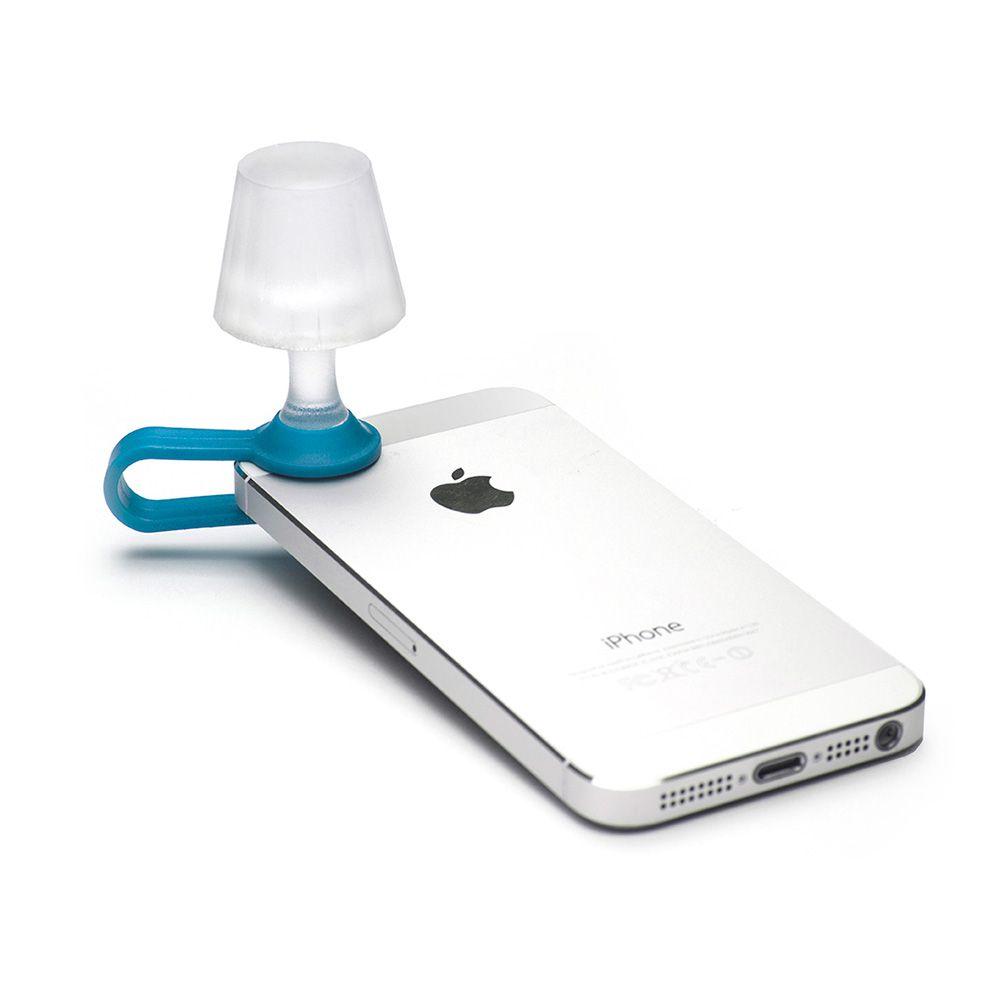 Мини - ночник для мобильного телефона Luma голубойЗакладки для книг<br>Удачный выбор для любителей необычного.<br>Размер: 6.2 см; Объем: None; Материал: Акрил; Цвет: Голубой;