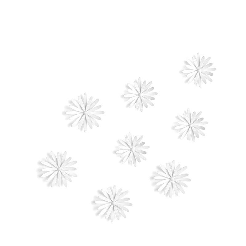Декор для стен (8 штук) Delica белыйПодарки<br>Декор для стен (8 штук) DELICA белый<br>Размер: 6.7 x 22.7 x 28 см; Объем: None; Материал: Пластик; Цвет: Белый;