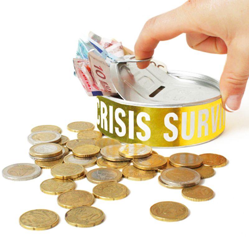 Копилка Financial CrisisОригинальные подарки женщине<br>Копилка Financial Crisis<br>Размер: 10 х 3 х 10 см.; Объем: None; Материал: Металл; Цвет: None;