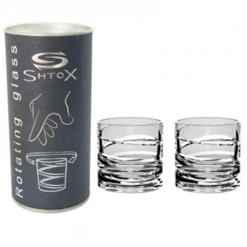 Набор из двух вращающихся стопок Штокс Shtox Shot 001SПодарки<br>Вращающиеся стопки Shtox Shot 001S<br>Размер: 6 x 6 см.; Объем: 70 мл.; Материал: Хрусталь; Цвет: None;