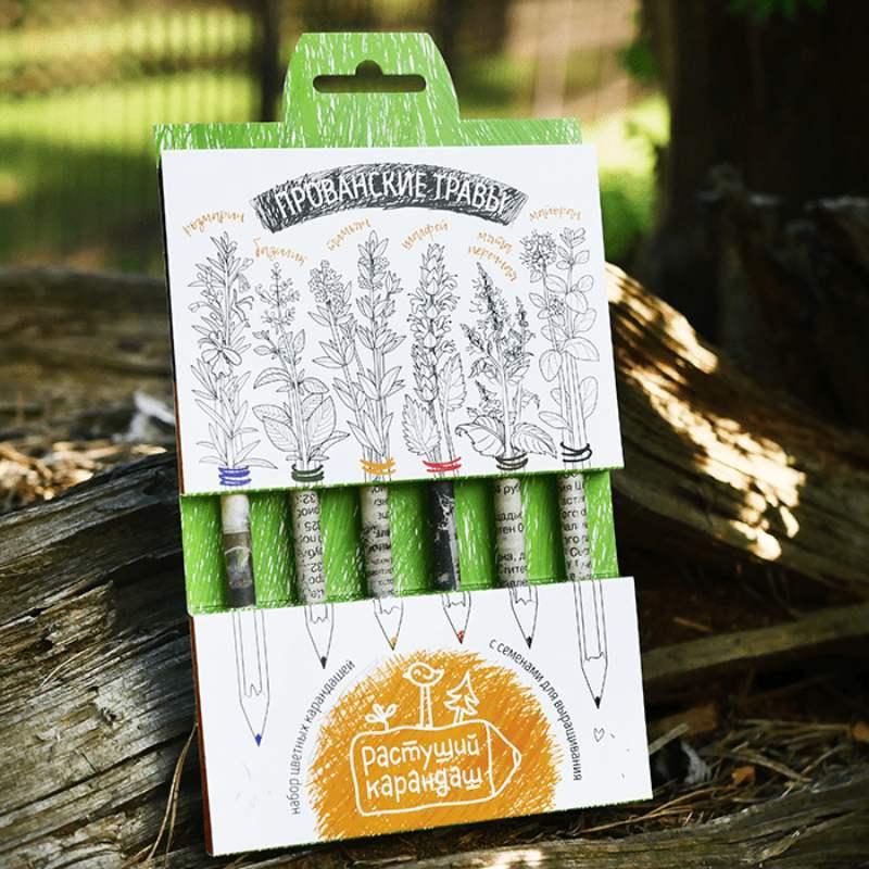 Прованские травы, набор цветных бумажных карандашей 6шт.Подарки<br>В данном наборе прованские травы: розмарин, тимьян, шалфей, базилик, майоран, мята. Когда карандаш испишется и станет стишком коротким, его можно посадить в землю под углом, погружая капсулу не глубже, чем на один см, обеспечить необходимым количеством св...<br>Размер: 19 х 1 х 12 см; Объем: None; Материал: Дерево; Цвет: None;